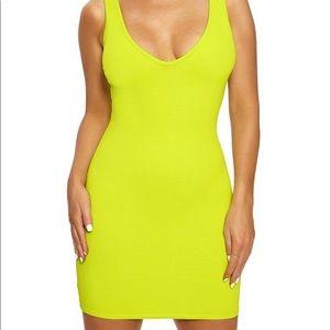 Naked Wardrobe Lime Snatched Mini Dress Size Large